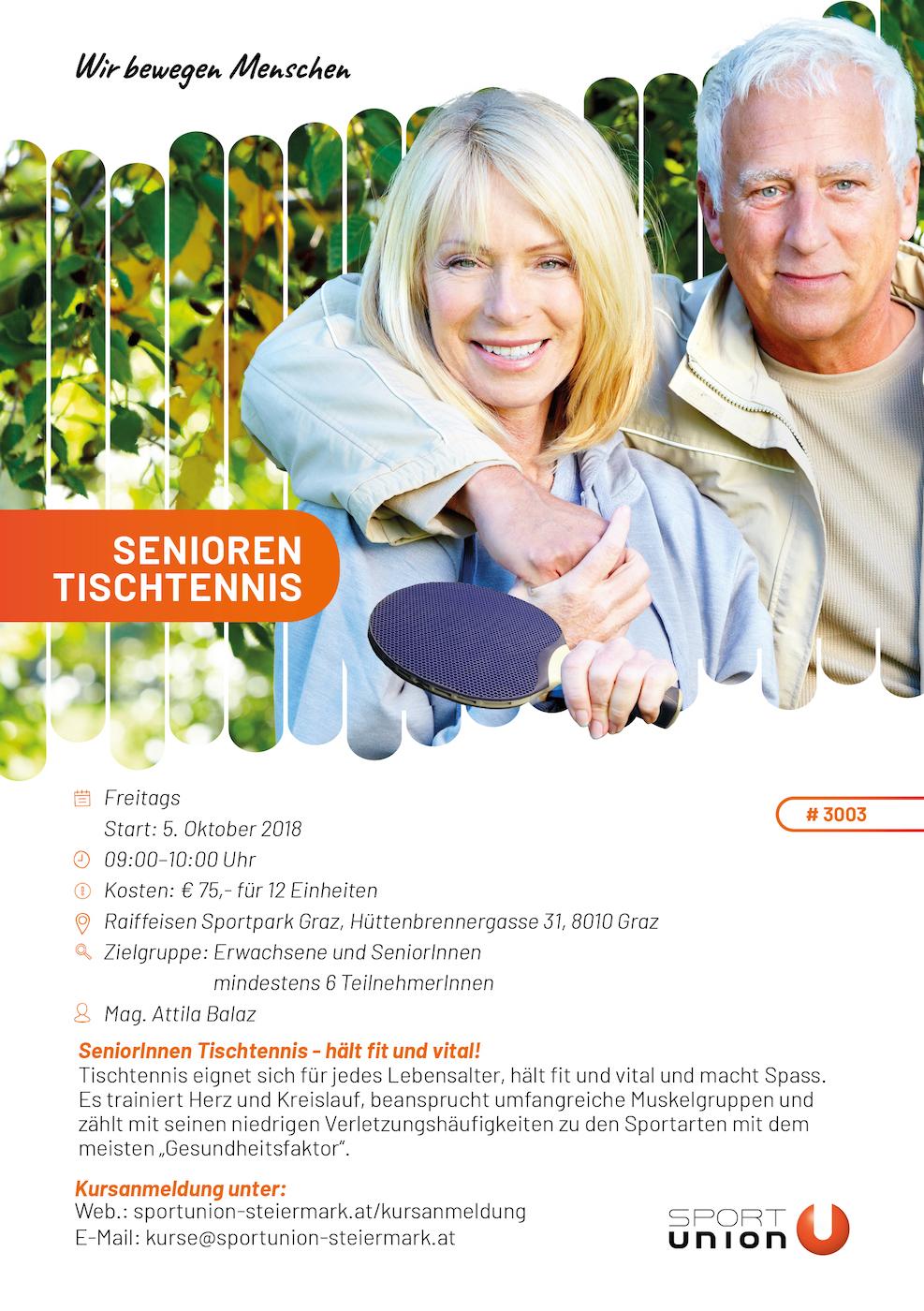 Senioren Tischtennis- - Raiffeisen Sportpark